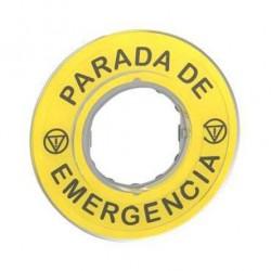 ETIQUETA PARO EMERGENCIA HARMONY SCHNEIDER ZBY9420