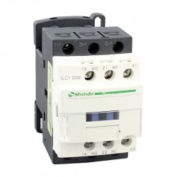 CONTACTOR 3 POLOS NA/NC 18A 7,5KW 24VDC SCHNEIDER LC1D18BD
