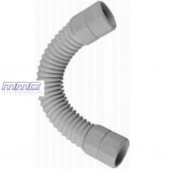 CURVA FLEXIBLE ESTANCA IP67 TUBO RIGIDO PVC GRIS M16