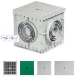 ARQUETA PVC CON TAPA 400X400X400 GG404040 GAESTOPAS