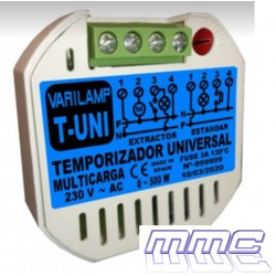 TEMPORIZADOR FONDO DE CAJA 230V LED HASTA 500W VARILAMP T-UNI