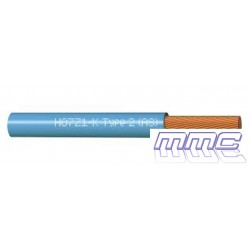 ROLLO 200 MTS CABLE UNIPOLAR LIBRE HALOGENOS 1X2,5 AZUL H07Z1-K 1X2,5 AZ R200