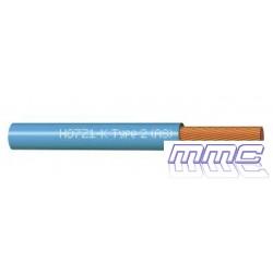 ROLLO 100 MTS CABLE UNIPOLAR LIBRE HALOGENOS 1X6 AZUL H07Z1-K 1X6 AZ R100