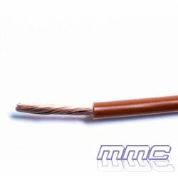 ROLLO 100 MTS CABLE UNIPOLAR LIBRE HALOGENOS 1X6 MARRON H07Z1-K 1X6 MA R100