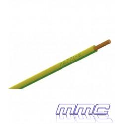 ROLLO 100 MTS CABLE UNIPOLAR LIBRE HALOGENOS 1X6 TIERRA H07Z1-K 1X6 AV R100