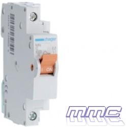 MAGNETOTERMICO 1P+N 16A 1 MODULO DPN VIVIENDA HAGER MN916V