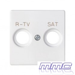 TAPA TOMA R-TV-SAT SIMON 82 BLANCO 82097-30